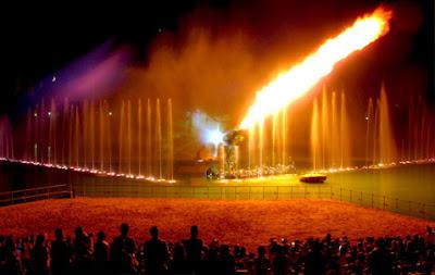 espectáculo del lago Isla Mágica viajes y turismo