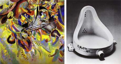 Art Talk - Foredrag om kunst. Wassily Kandinsky: Fuga, 1914 - Marcel Duchamp: Fountain