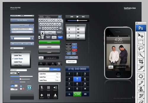 New Modern iPhone 4 GUI PSD