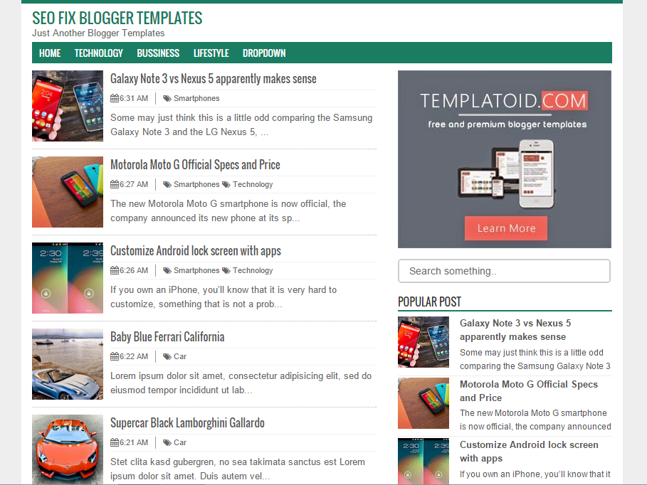5 Template Blogger SEO Friendly dan Responsive Abis | Espada Blog