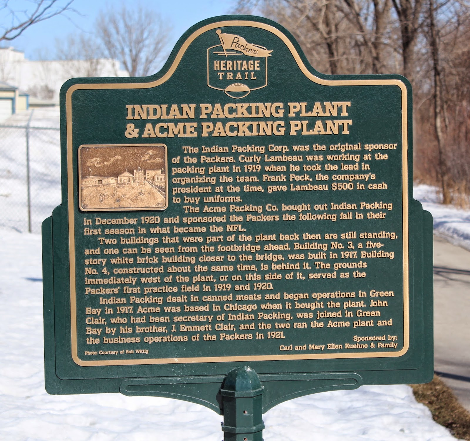 Wisconsin Historical Markers: Packers Heritage Trail: Indian ...