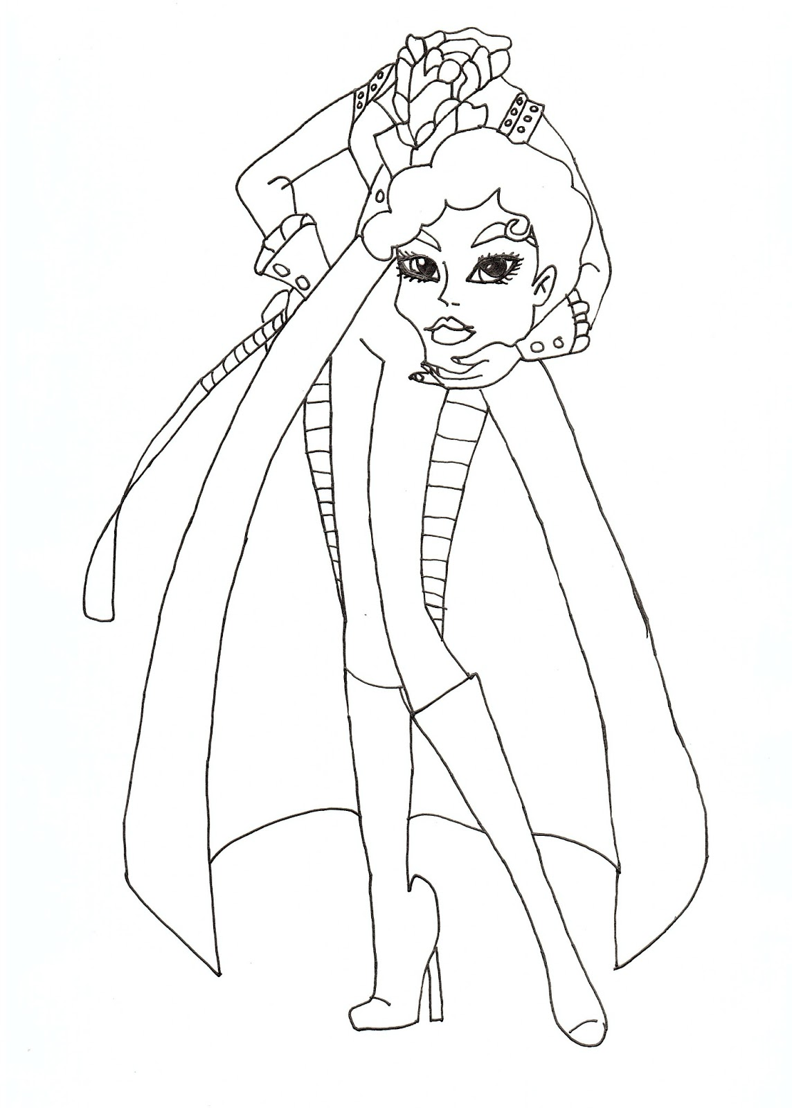 monster high gigi coloring pages - photo#29