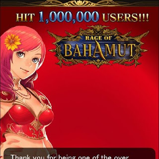Rage of Bahamut Exceed 1,000,000 Users