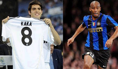 Kaka and Maicon in exchange