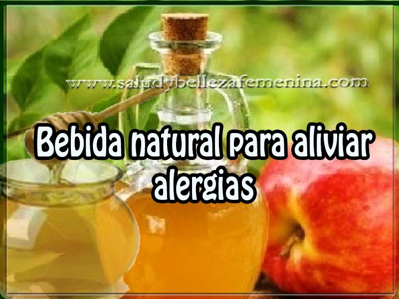 Bebidas saludables , salud y bienestar , bebida natural para aliviar alergias
