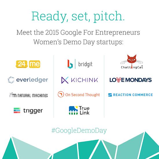 Google Demo Day: shining a light on female entrepreneurs