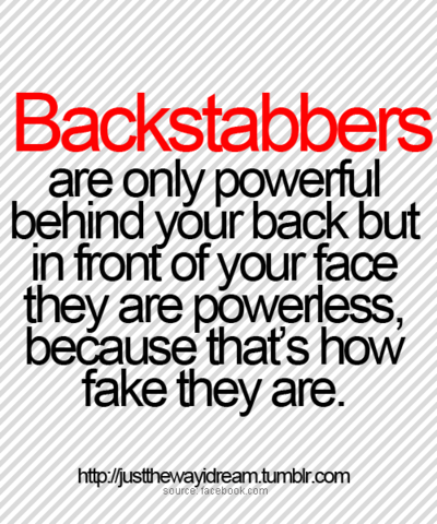 Quotes About Backstabbers at Work