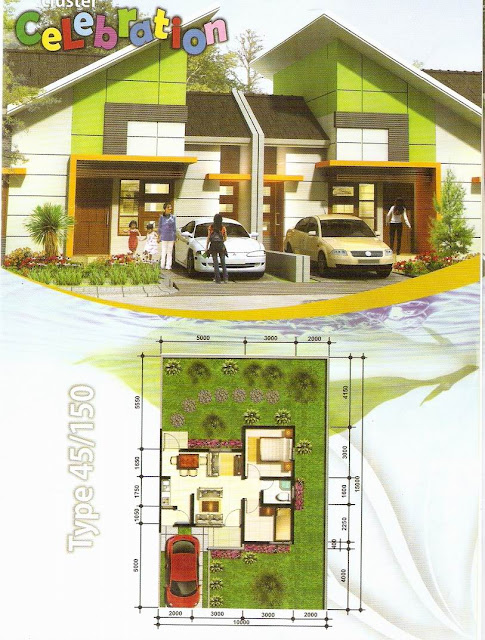 rumahku 1 denah rumah minimalis type 45 150