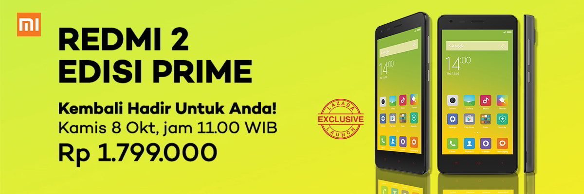 Flash Sale Lazada Xiaomi Redmi 2 Edisi Prime