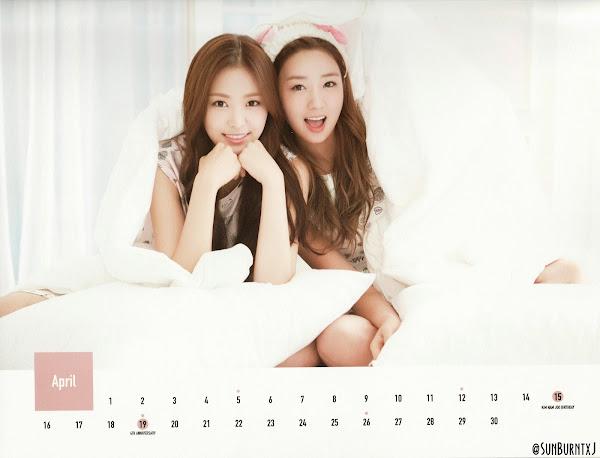 Apink calendar 2015 scans Naeun Bomi