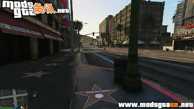 V - Mod Calçada da Fama de Hollywood para GTA V PC