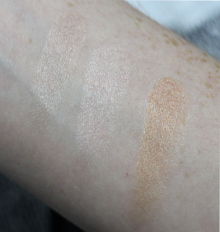 MAKE UP REVOLUTION RADIANCE PALETTE SWATCHES