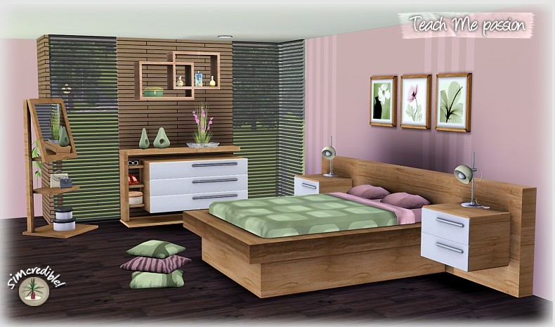 My sims 3 blog teach me passion bedroom set by for Bed 3