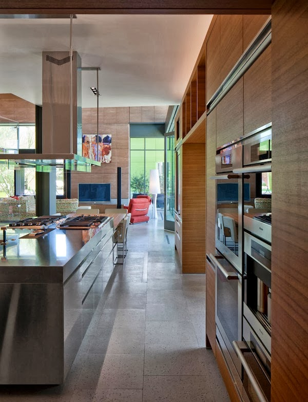 Kitchen island in Multimillion modern dream home in Las Vegas