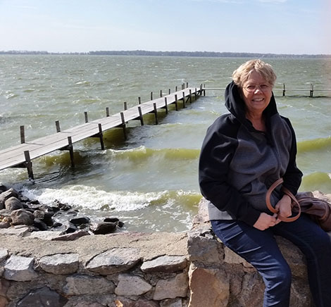 Clear Lake Iowa a little windy