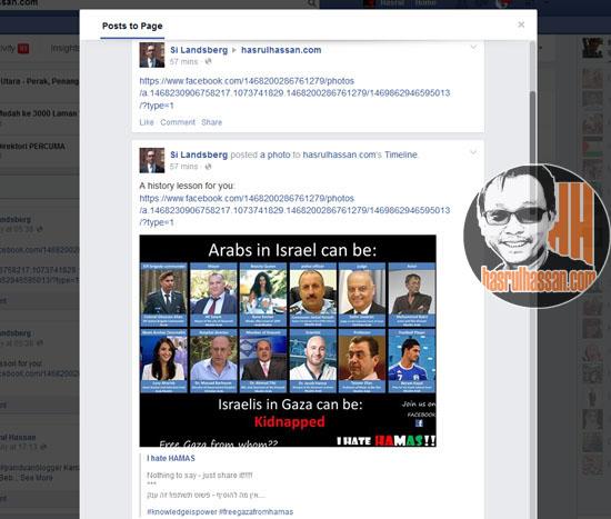 Bila Yahudi Komen FB Page Blog Ini