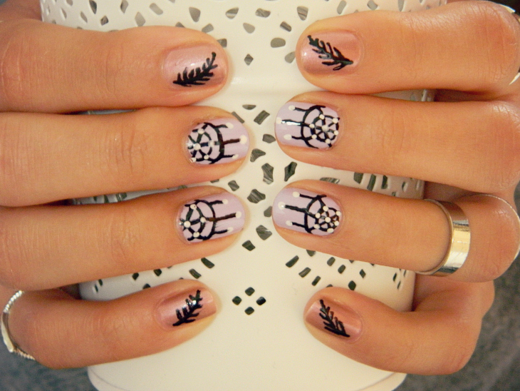 Love From Lisa Boho Dreamcatcher Nail Art
