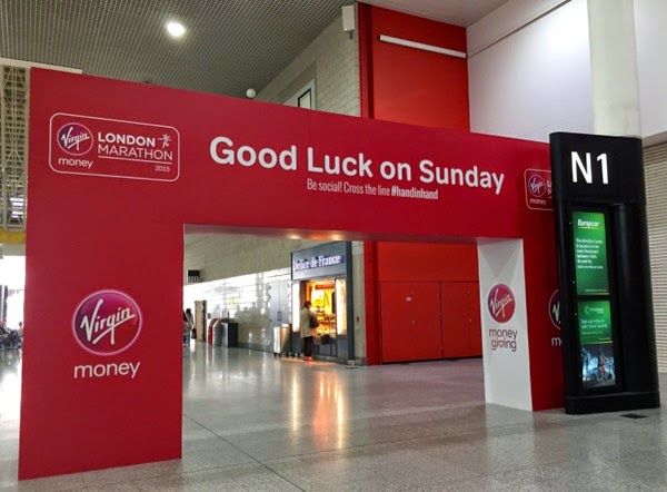 Good luck Sunday 2015 London Marathon Expo