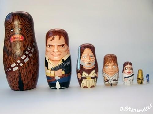 01-Chewbacca-Han-Solo-Obi-Wan-Kenobi-Luke-Skywalker-Princess-Leia-C3PO-R2D2-Matreshka-Matryoshka-Andy-Stattmiller-Nesting-Dolls-www-designStack-co