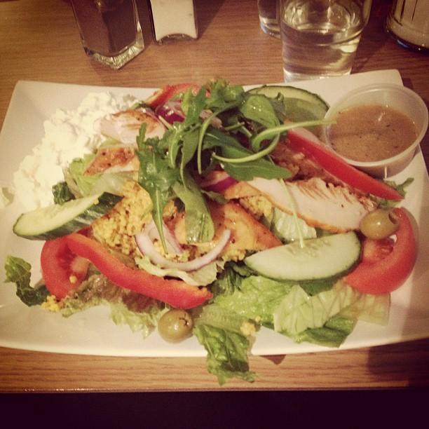 healthy salad at urban coffee