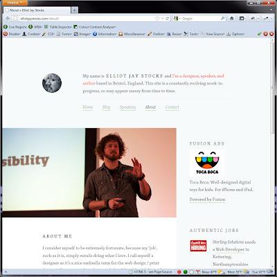 Screen shot of http://elliotjaystocks.com/about/.