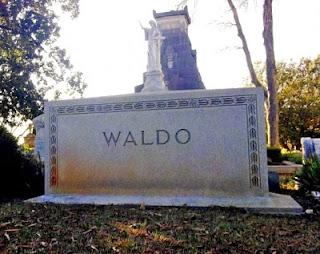 http://www.funnysigns.net/waldo-grave-stone/