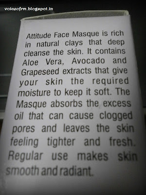 Amway Attitude Face Masque Claims