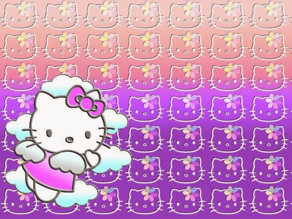 gambar hello kitty wallpaper ungu gambar hello kitty