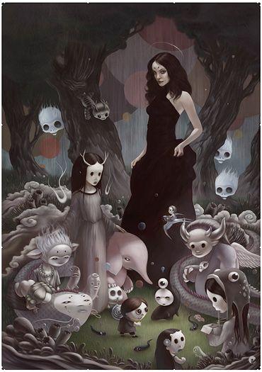 Tom Bagshaw ilustrações mulheres sombrias surreais sensuais