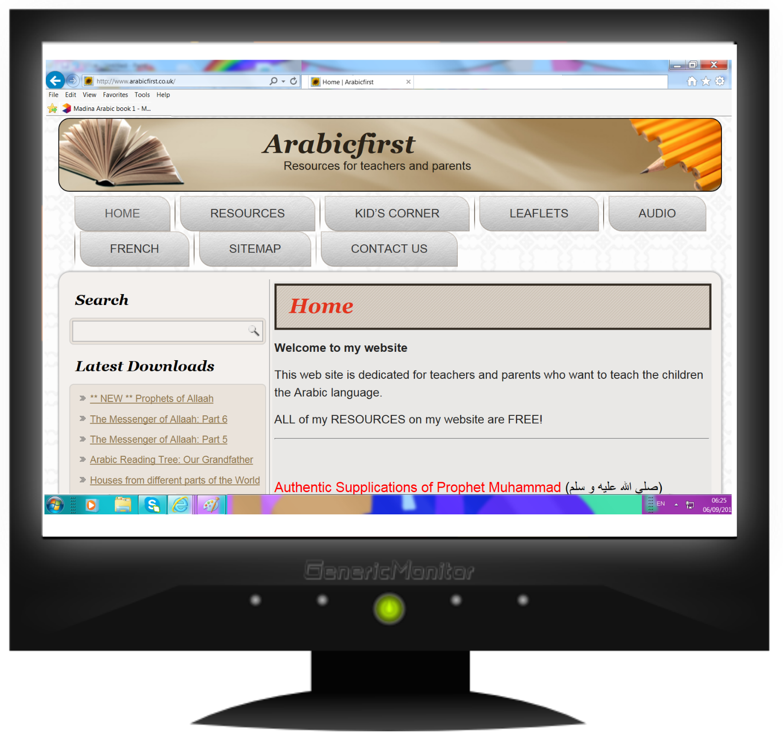 free arabic curriculum