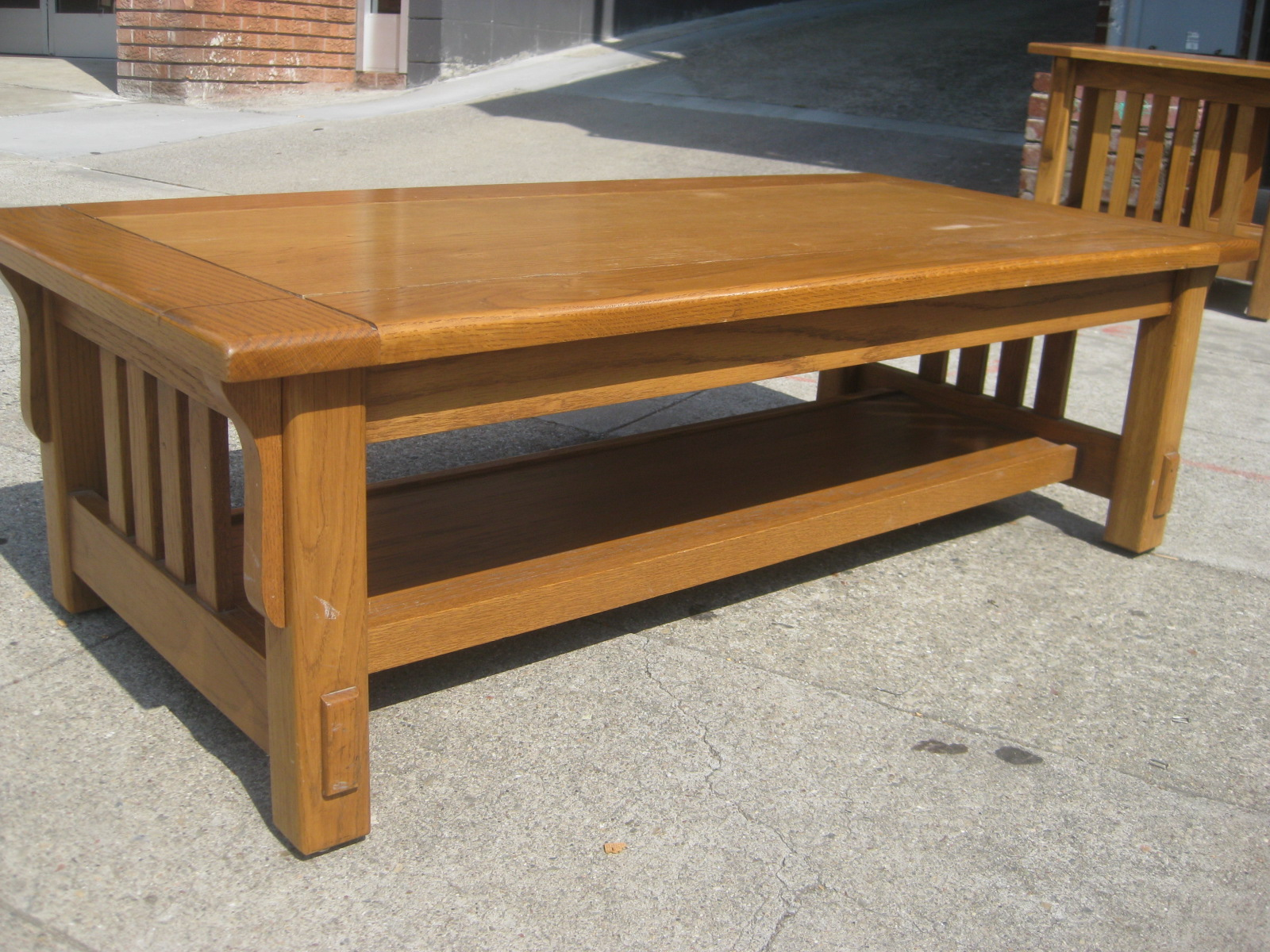 Uhuru furniture collectibles sold mission style coffee table sold mission style coffee table 75 geotapseo Choice Image