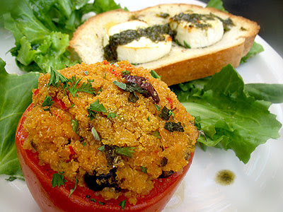 stuffed tomatoes with salad