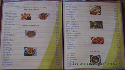 karjat king main course menu