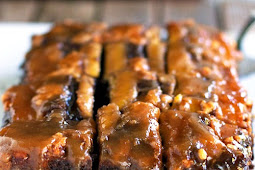 Chocolate PB Banana Upside Down Cake