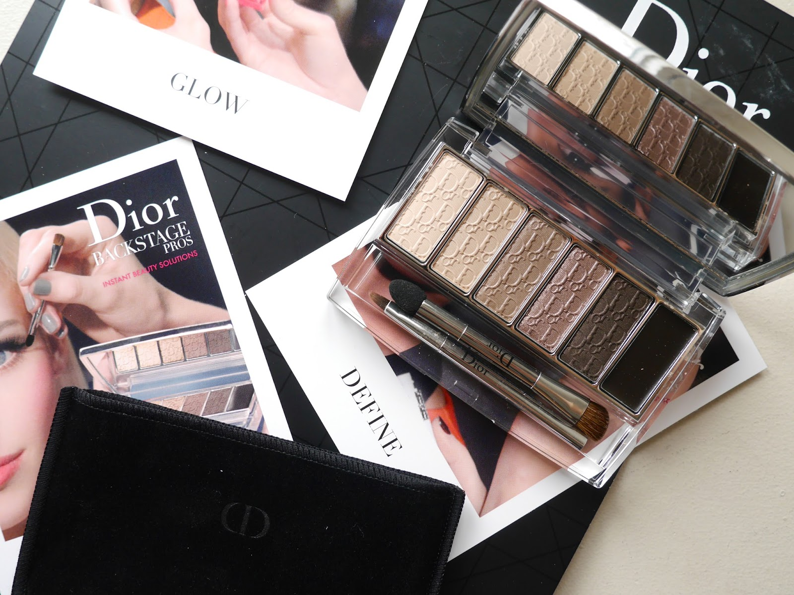review swatch Dior Eye Reviver Illuminating Neutrals nude eyeshadow palette