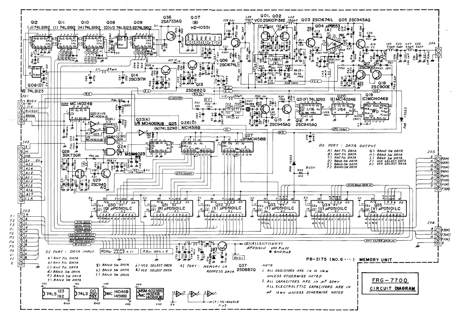 the '7700: an updated memory module : part 1 - how the ...  memory schematic
