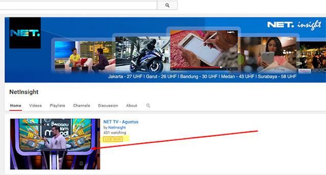 Streaming Net via YouTube