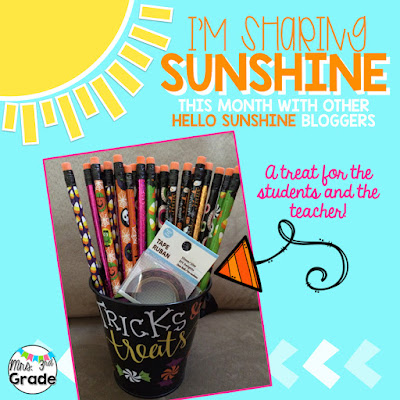 Sharing Sunshine by sharing a little BOO with your fellow teachers