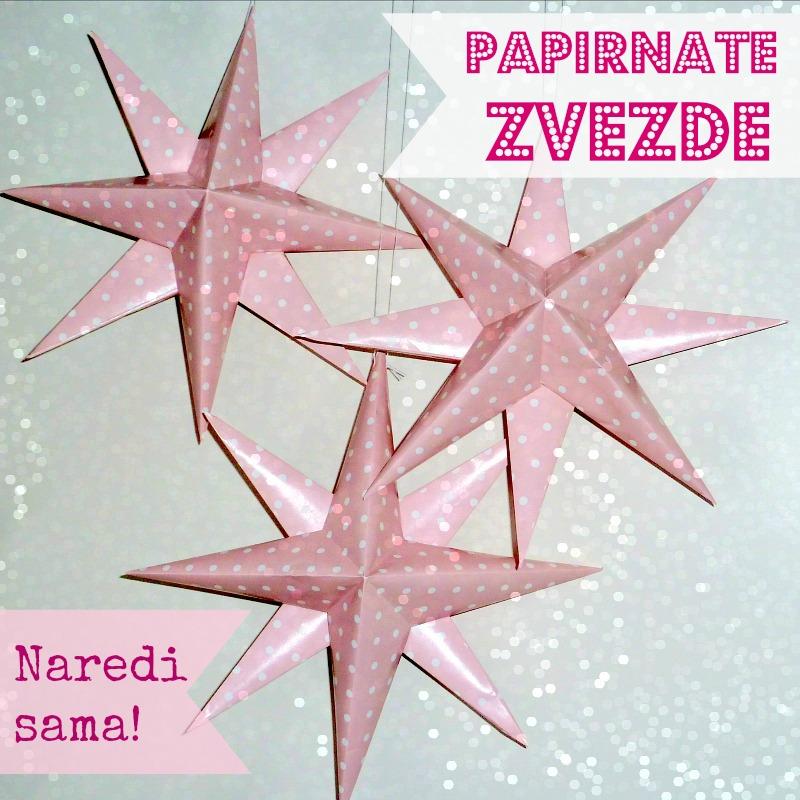 papirnate zvezde - dekoracija za zabavo