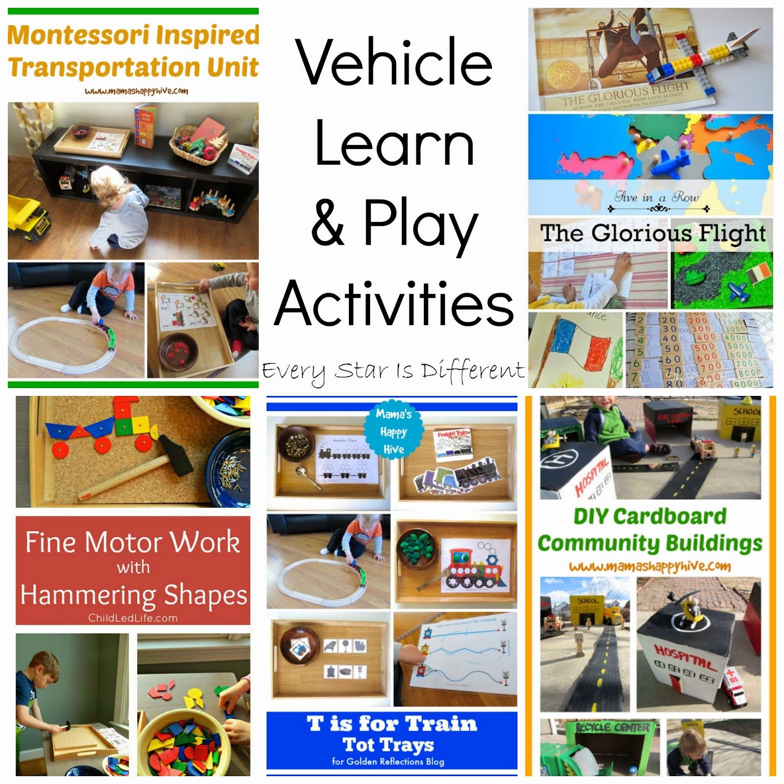 transportation themed activities and learn u0026 play link up every