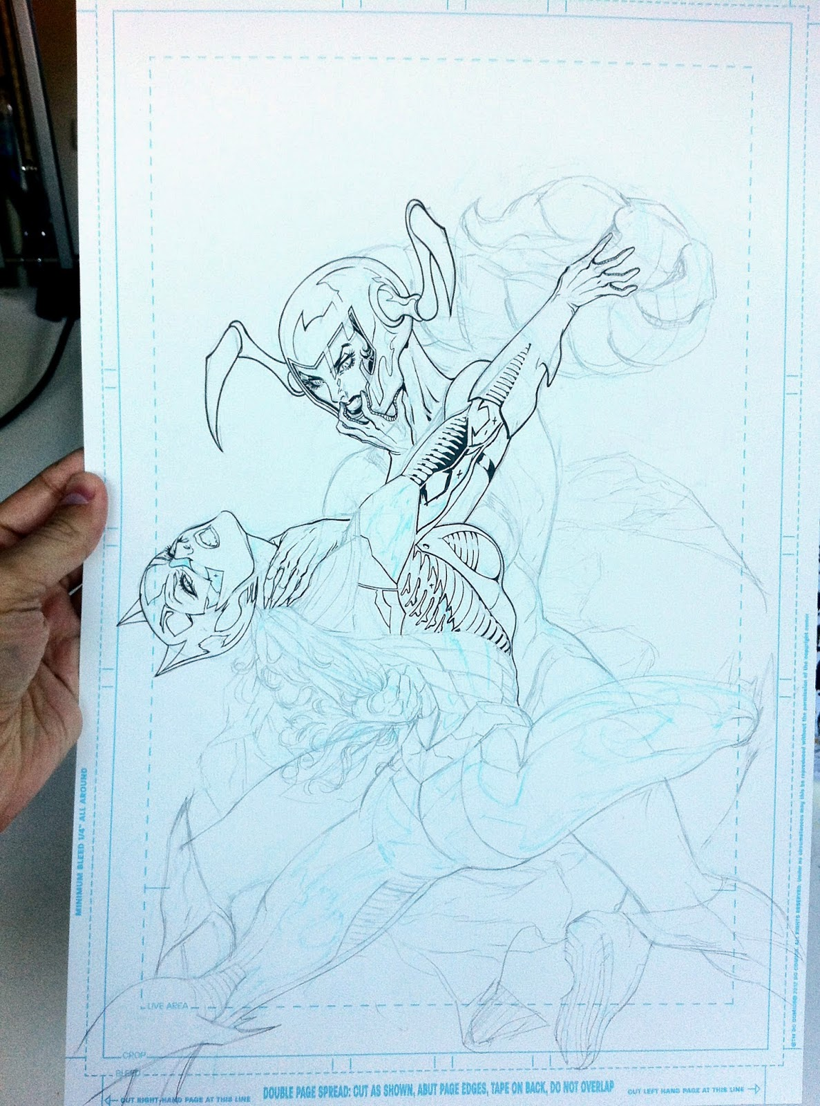Making of a cover: BATMAN ETERNAL 11 by Guillem March