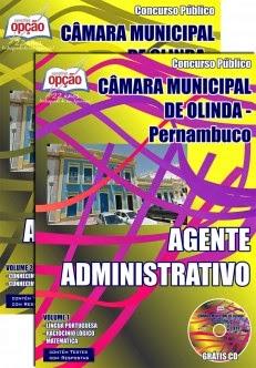 Novo Concurso Câmara Municipal de Olinda / PE AGENTE ADMINISTRATIVO 2015 TODOS CARGOS