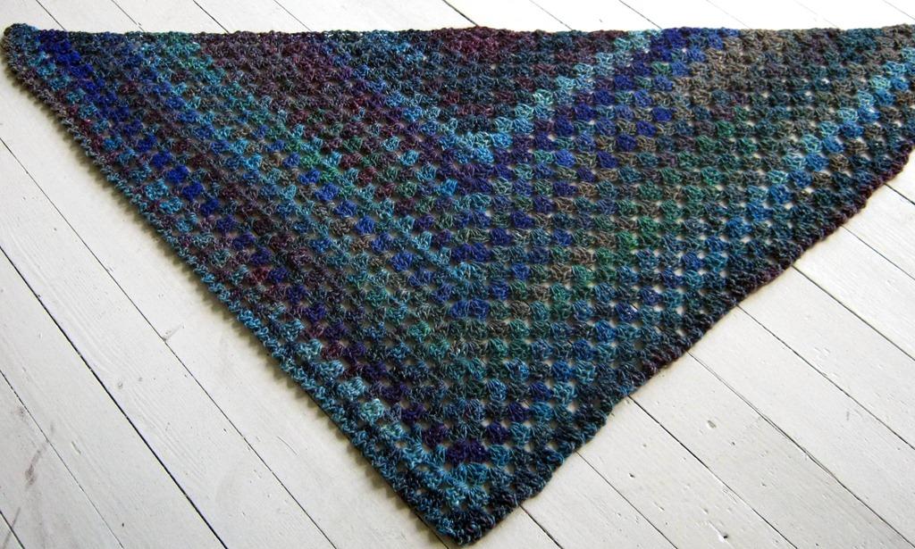 The Sunroom Uk Noro Silk Garden Half Granny Square Shawl Crochet