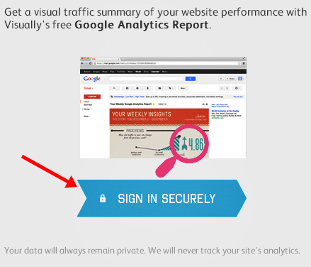 Create your website traffic report in infographic with Google sites sign in