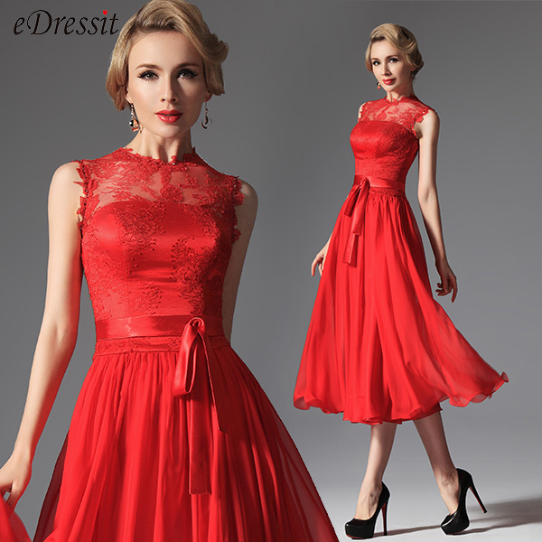 Robe rouge invite mariage