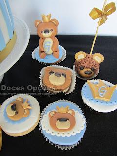 bolo bolachas cakepops cupcakes ursinho batizado doces opções susana bragança