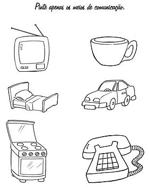 imagens para colorir meios de comunicação - O rádio um meio de comunicação Desenhos para colorir
