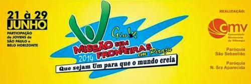 """Jovens de São Paulo e Minas Gerais realizam """"Missão Sem Fronteiras"""""""