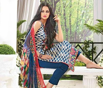 Exclusive Printed Salwar Suits Collection 2014