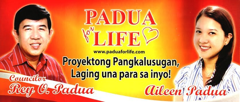 PADUA FOR LIFE The Official Website of Councilor Rey Padua and Aileen Padua